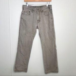 PrAna Brown Cargo Pants with Hammer Loop